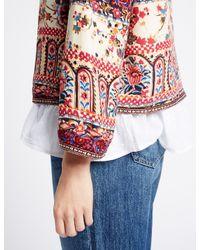 Marks & Spencer - Multicolor Floral Tile Print Kimono Trophy Jacket - Lyst