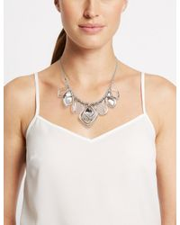 Marks & Spencer - Multicolor Mixed Metal Pendant Necklace - Lyst