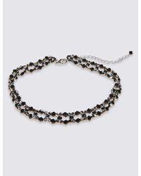 Marks & Spencer - Black Lattice Choker Necklace - Lyst