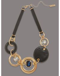 Marks & Spencer - Metallic Circle Glamour Necklace - Lyst