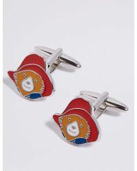 Marks & Spencer - Red Paddington Bear Cufflinks for Men - Lyst
