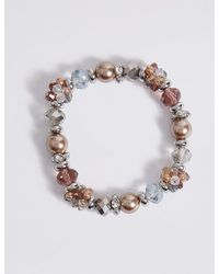 Marks & Spencer - Pink Pearl Swirl Bracelet - Lyst