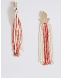 Marks & Spencer - Pink Tassel Drop Earrings - Lyst