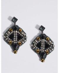 Marks & Spencer - Multicolor Encrusted Drop Earrings - Lyst