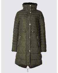 Marks & Spencer | Green Padded Jacket With Stormweartm | Lyst