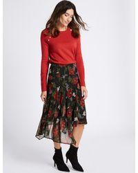 cf661ac4fd Marks & Spencer. Women's Floral Print Chiffon A-line Midi Skirt