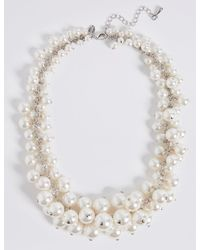 Marks & Spencer | Multicolor Pearl Effect Cluster Necklace | Lyst