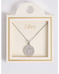 Marks & Spencer - Metallic Libra Necklace - Lyst