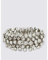 Marks & Spencer | Metallic Diamanté Sparkle Gem Stretch Bracelet | Lyst