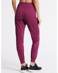 Marks & Spencer - Multicolor Brushed Slim Leg Joggers - Lyst