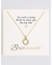 Marks & Spencer - Metallic Thank You Pendant Necklace - Lyst
