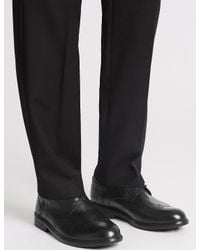 Marks & Spencer - Black Extra Wide Fit Leather Brogue Shoes for Men - Lyst