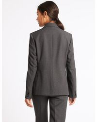 Marks & Spencer - Gray 1 Button Jacket - Lyst