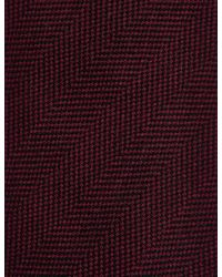 Marks & Spencer - Purple Wool Rich Herringbone Tie for Men - Lyst