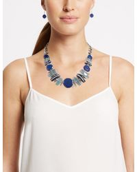 Marks & Spencer - Blue Horizon Shapes Necklace & Earrings Set - Lyst