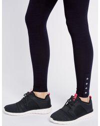 Marks & Spencer - Blue Space Dye Hem Button Leggings - Lyst