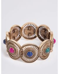 Marks & Spencer - Metallic Circle Gem Bracelet - Lyst