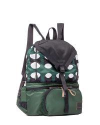 Marni - Green Porter Multi-zip Backpack-fanny Pack In Printed Nylon for Men - Lyst