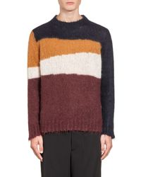 Marni   Multicolor Multi-colored Striped Knit In Wool And Mohair for Men   Lyst