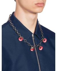 Marni - Red Metal Necklace - Lyst