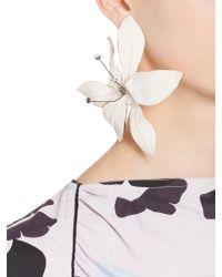 Marni - White Screw-back Flower Earrings - Lyst