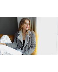 Marrakech | Gray Abby Shearling Jacket | Lyst
