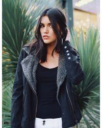Marrakech | Black Abby Shearling Jacket | Lyst