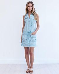 Marrakech - Blue Panama Cargo Dress - Lyst