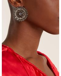 Givenchy | Black Crystal-embellished Earrings | Lyst