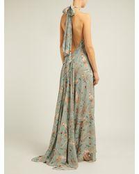 Johanna Ortiz - Multicolor Vanuato Floral Print Silk Georgette Gown - Lyst