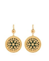 Dolce & Gabbana - Yellow Floral-drop Crystal-embellished Earrings - Lyst