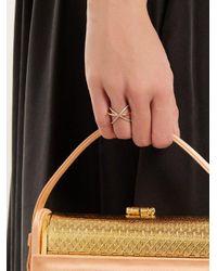 Charlotte Chesnais - Metallic Xo Diamond & Gold Ring - Lyst