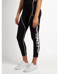Fendi - Black Side-logo Performance Leggings - Lyst