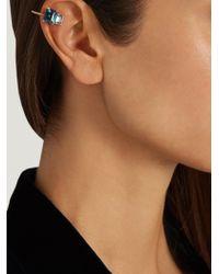 Loren Stewart - Blue Topaz & Yellow-gold Ear Cuff - Lyst