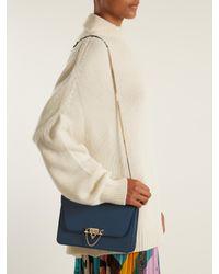 Valentino - Blue Demilune Leather Shoulder Bag - Lyst