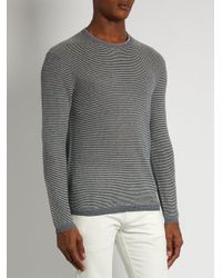 Polo Ralph Lauren - Blue Striped Cotton And Cashmere-blend Sweater for Men - Lyst