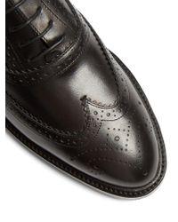 Burberry - Black Gennie Leather Brogues - Lyst