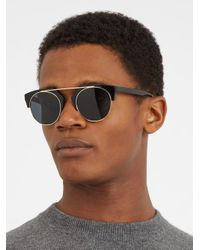 Kaleos - Black Sear Acetate And Metal Sunglasses for Men - Lyst