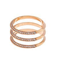 Ileana Makri - Pink White Diamond & Rose-gold Ring - Lyst