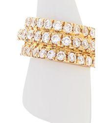 Elise Dray - Yellow Diamond, White-agate & Gold Mini-horn Earrings - Lyst