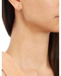 Elise Dray - Metallic Diamond, Pearl & Pink-gold Mini Rock Earring - Lyst