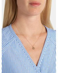 Alison Lou - Metallic Enamel & Yellow-gold Bashful Face Necklace - Lyst
