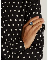 Jacquie Aiche | Blue Diamond, Agate & Yellow-gold Ring | Lyst