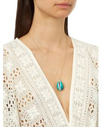 Aurelie Bidermann | Blue Merco Shell & Yellow-gold Necklace | Lyst