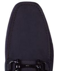Ferragamo - Blue Gancia Bit Leather Driving Shoes for Men - Lyst