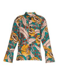 Marni | Multicolor Bellwoods-Print Cotton and Linen-Blend Jacket | Lyst