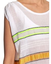 Lemlem | Multicolor Addis Multi-stripe Capped-sleeves Cover-up | Lyst