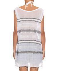 Lemlem - Gray Addis Multi-stripe Gauze Cover-up - Lyst