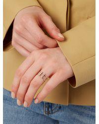 Loren Stewart - Metallic White-diamond & Yellow-gold Double Band Ring - Lyst