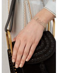 Jade Jagger | Metallic Diamond & Yellow-gold Chevron Shield Bracelet | Lyst